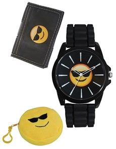 Emoji Cool Watch and Wallet Set