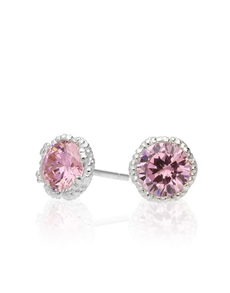 jewellery: Jenna Clifford Ruth Pink Cubic Studs!