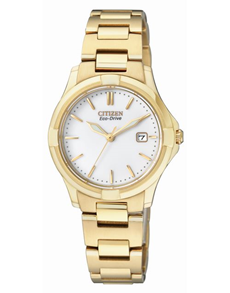 watches: Citizen Ladies eco drive yellow gold watch!