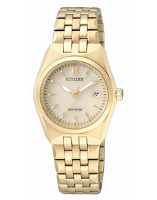 watches: Citizen Ladies yellow gold thick band watch!