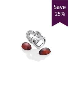 jewellery: Anais Double interlocking Open Heart Charm Set!