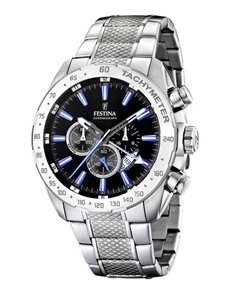 jewellery: Festina Watch with Black Chronograph Dial!