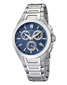 jewellery: Festina Watch With Silver And Blue Dial!