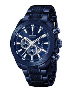 jewellery: Festina Watch with Blue Ion Plated Strap!