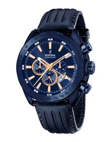 jewellery: Festina Watch with Blue Ion Plated Case!