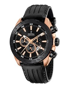 jewellery: Festina Gents Prestige Chronograph Watch F169001!