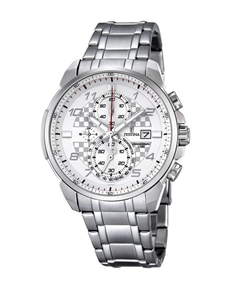 jewellery: Festina Watch with Silver and White Dial!
