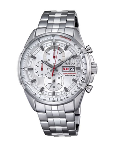 jewellery: Festina Watch with Silver Tone Chronograph Dial!