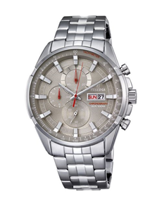 jewellery: Festina Watch with  Silver and Bronze Tone Dial!
