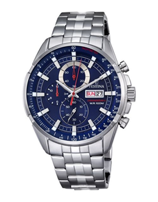 jewellery: Festina Watch with Blue Chronograph Dial!