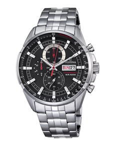 jewellery: Festina Gents Black Chronograph Watch!