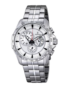 jewellery: Festina Watch with Silver Tone Chronograph Detail!