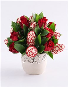 bakery: Red Decadence Strawberry and Rose Bouquet!
