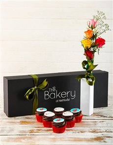 bakery: Good Luck Cupcakes and Flowers!