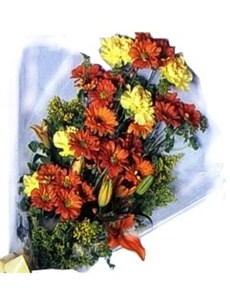 flowers: Sunset Hues Assorted Bouquet!
