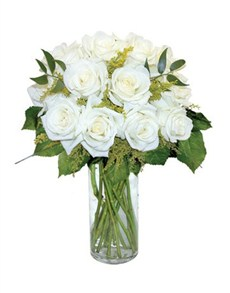 flowers: 12 White Roses!