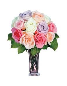 flowers: 12 Pastel Roses!