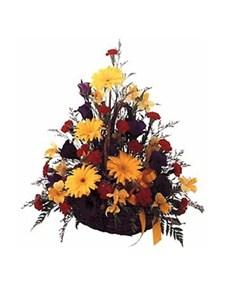 flowers: Colourful Country Basket Arrangement!