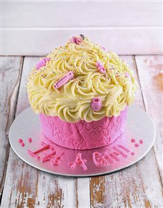 bakery: New Arrival Baby Girl Giant Cupcake!