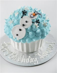 bakery: Personalised Snowman Giant Cupcake!