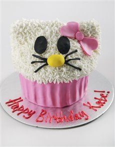 bakery: Personalised Hello Kitty Giant Cupcake!