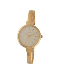 watches: Hallmark Gold Plated Thin Bangle Watch!