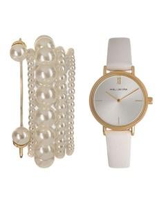 watches: Hallmark Ladies White and Gold Box Set!