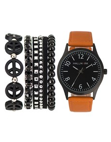 watches: Hallmark Mens Black and Brown Box Set!