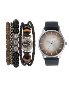 watches: Hallmark Gents Watch and Bead Bracelet Set!