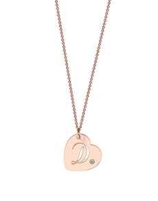 jewellery: MeMi Rose Gold Heart Personalised Pendant!