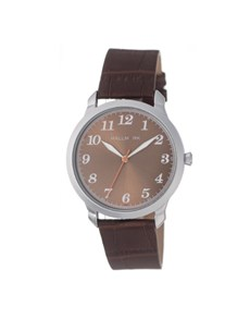 watches: Hallmark Brown Dial and Croco Leather Strap!