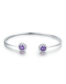 jewellery: Silver Open Ended Amethyst Cubic Set Ends!