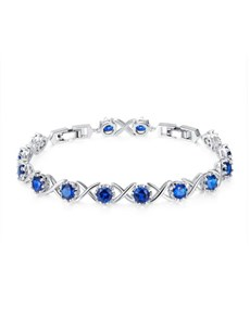 jewellery: Blue Cubic X Adjustable Tennis Bracelet!