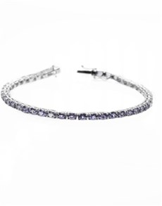 jewellery: Silver 8.12ct Oval Tanzanite Tennis Bracelet!