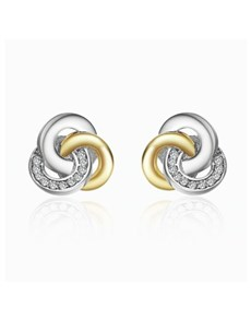 jewellery: Silver Cubic Interlinking Circle Earrings!