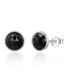jewellery: Silver Black Cubic Birthstone Studs!