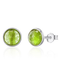 jewellery: Silver Green August Cubic Birthstone Studs!