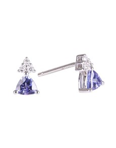 jewellery: 9KT 0.54ct Trillion Tanzanite and Diamond Earrings!