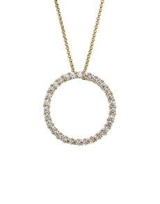 gifts: 9KT Pave Cubic Circle Pendant Necklace!