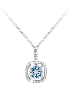 jewellery: 9KT Cushion Shape Gemstone Necklace!