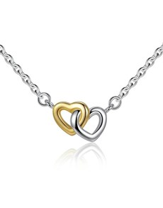 jewellery: Silver Interlinking Lovely Hearts Necklace!