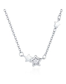 jewellery: Silver Double Star Cubic Necklace!