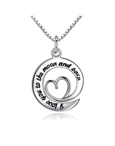 jewellery: Silver Round Love And Round Necklace!