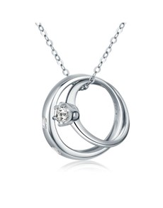 jewellery: Silver Wedding Ring Set Love Necklace!