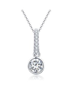 jewellery: Silver Cubic Tube And Pave Necklace!