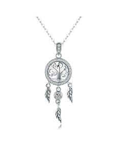 jewellery: Silver Dream Catcher Cubic Necklace!