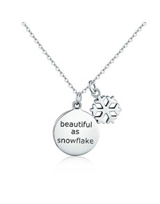 jewellery: Silver Beautiful Snowflake Necklace!