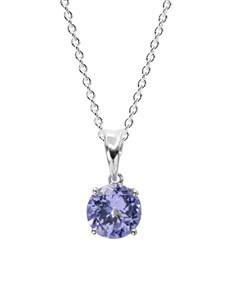jewellery: 9KT 0.56ct Round 4 Claw Tanzanite Necklace!