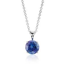 jewellery: 9KT 1.12ct Round 4 Claw Tanzanite Necklace!