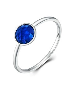 jewellery: Silver Blue Cubic Solitaire Ring!